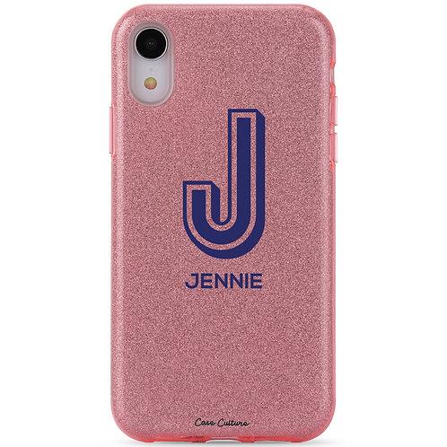 Sparkling Rose Pink Glitter (Blue Font)