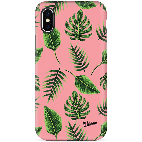 Green Tropical Leaves (Flamingo Pink) - รุ่น Dual Guard
