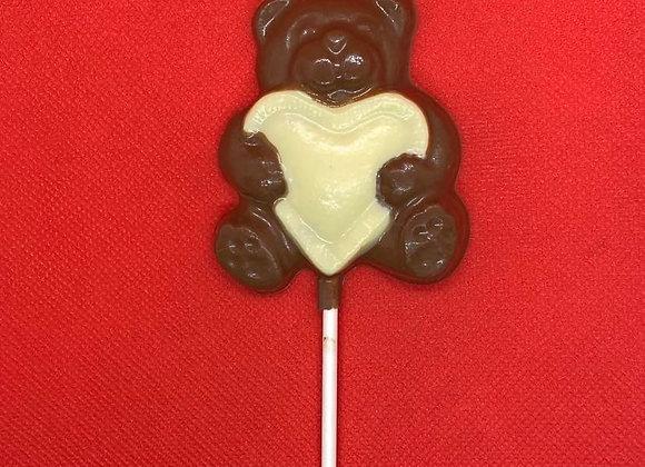 Love Bear Chocolate Lolly