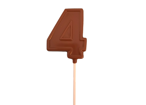 Number Chocolate Lolly