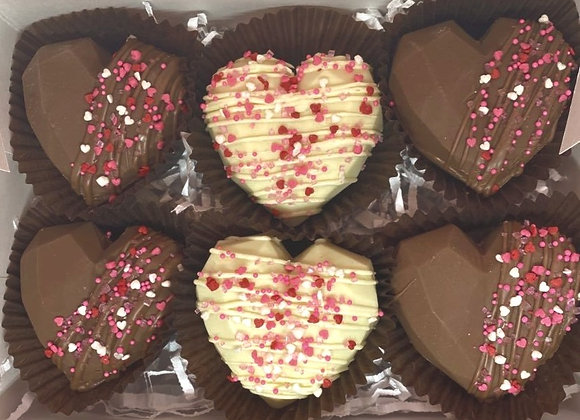 6 Hot Chocolate Bomb Hearts