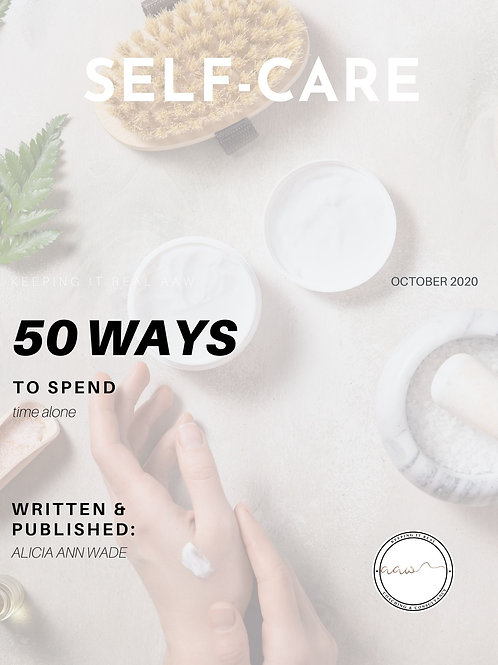 Self-Care: 50 Ways To Spend Time Alone