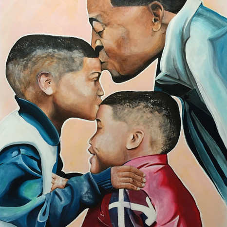 Customer wanted a portrait of him and his boys.