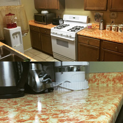 Repainted Countertops Project