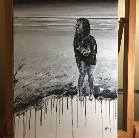 Customer wanted to surprise their significant other with a portrait of herself.