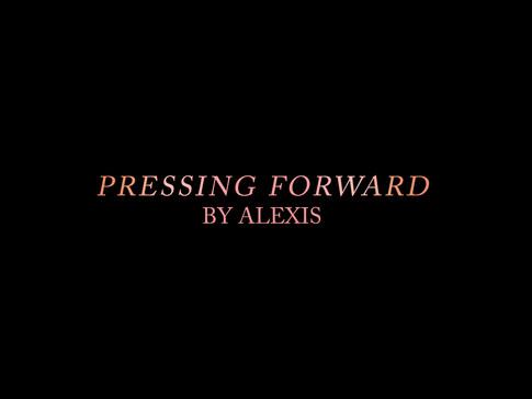 Pressing Forward by Alexis logo