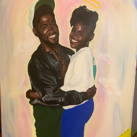 Customer wanted a portrait of their significant other's parents whom has passed.