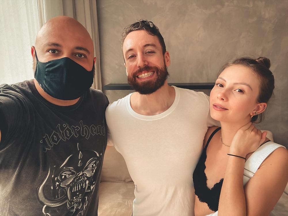 Eu, André e Martina