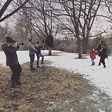 winter family photos hopkins mn