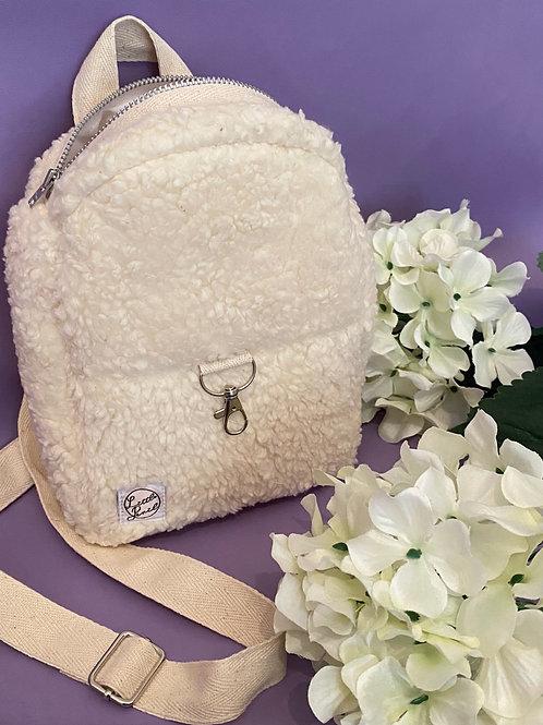 'Frankie' Organic Fur Convertible Bagpack/Sidebag