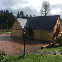 Oak Framed Garage built by Acorn Buildings