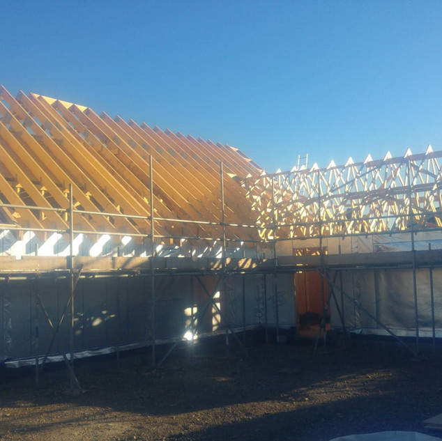 Agricultural workers dwelling, timber frame supplied by All Timber Frames