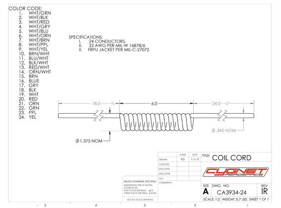 Coil Cord 24 Conductor