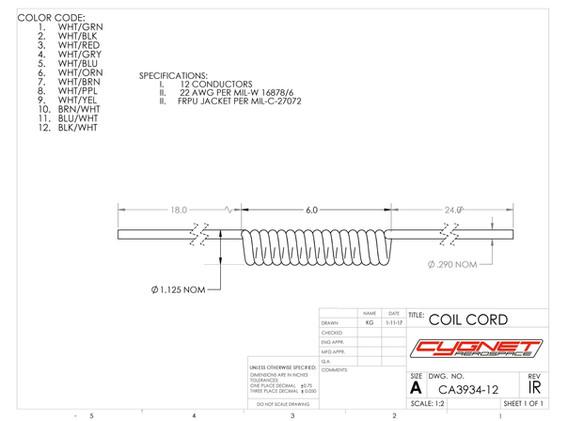 Coil Cord 12 Conductor
