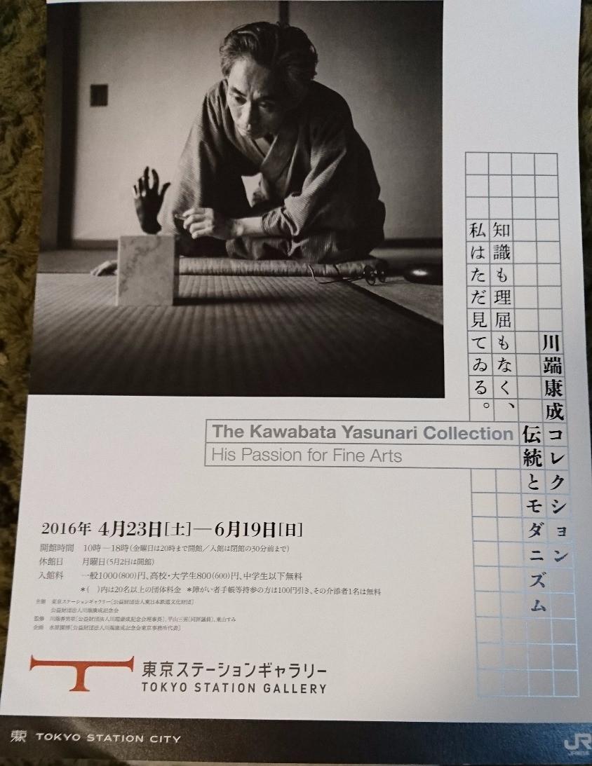 東京ステーションギャラリーで開催されている「川端康成コレクション 伝統 とモダニズム」展
