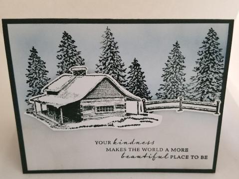Peaceful Cabin Kindness Card