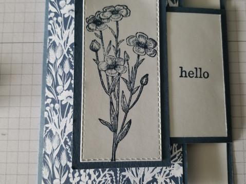 Quiet Meadow Fun Fold Card