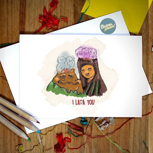 I Lava You - A6 Card