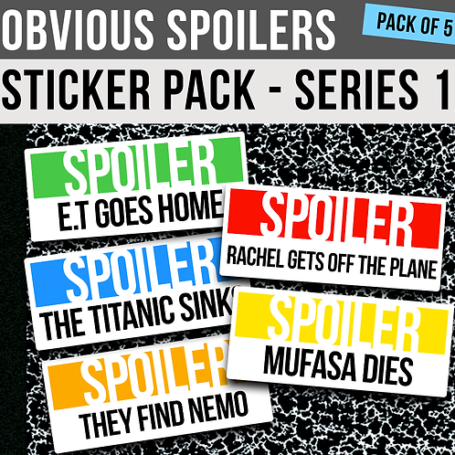 Obvious Spoilers: Series 1 - Sticker Pack
