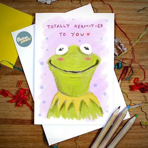 Kermit-ed To You - A6 Card