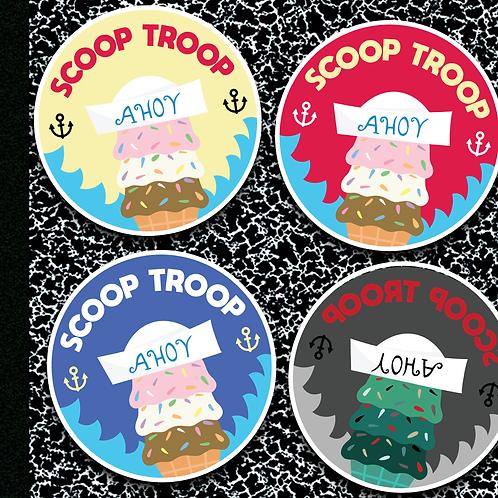 Scoop Troop - 4 Pack of Stickers