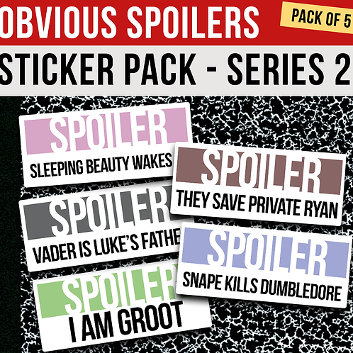 Obvious Spoilers Sticker Pack - Series 2
