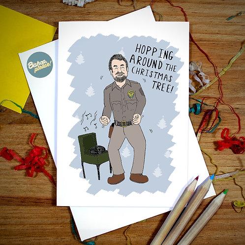 Hopping Around - Christmas Card