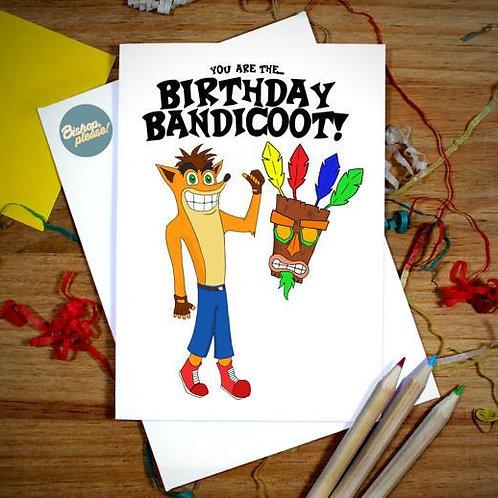 Birthday Bandicoot - A6 Card