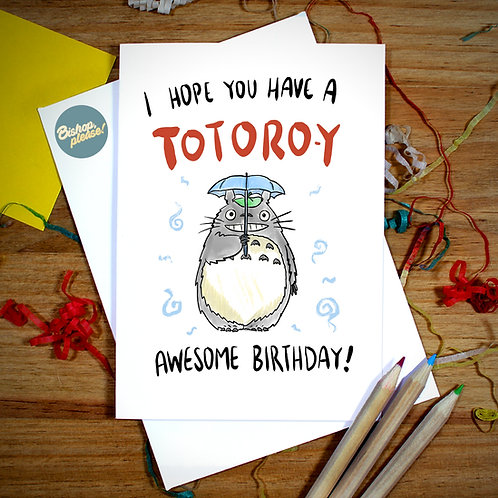 Totoroy Awesome Birthday - Card