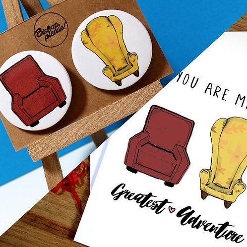 Greetings Card & Matching Badges! My Greatest Adventure