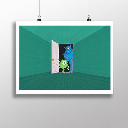 Monster Door - Print