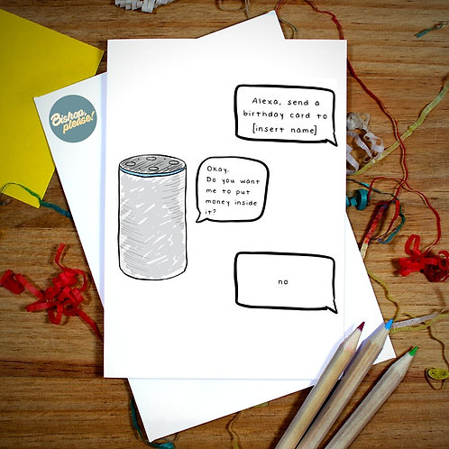 Alexa - Personalised A6 Card
