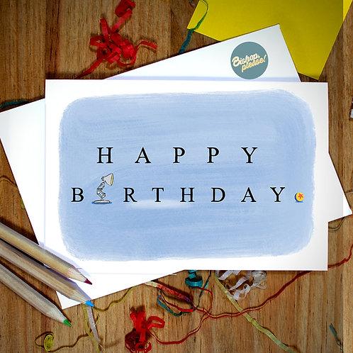 Birthday Lamp - A6 Card