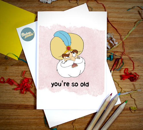 Youre So Old Sultan Birthday Card