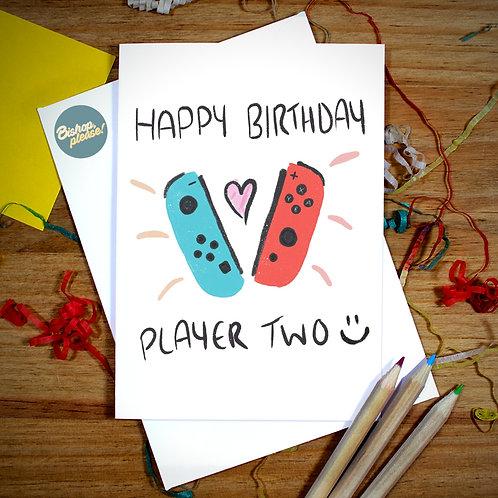 Player 2 - Birthday Card