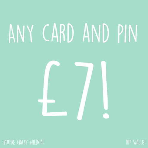 Any Card & Pin For £7