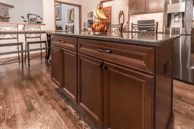 Downing Kitchen Remodel Island Cabinets.