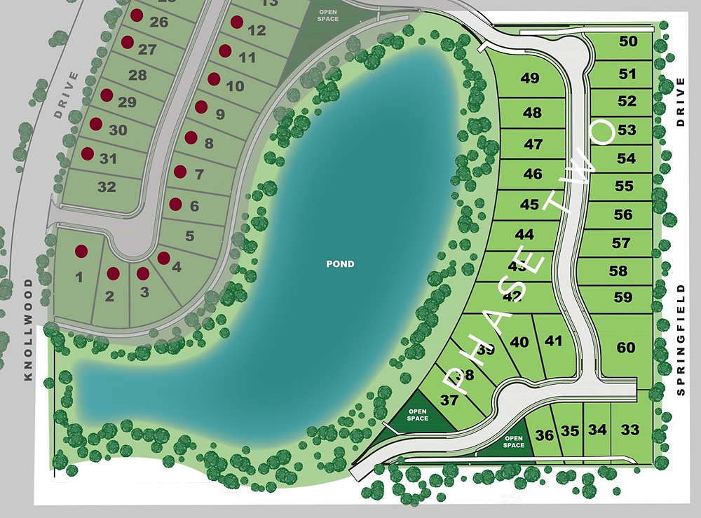 Phase 2 site map at Springfield Pointe in Bloomingdale