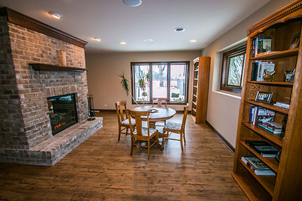 Basement remodel with fireplace, flooring and other cool design ideas