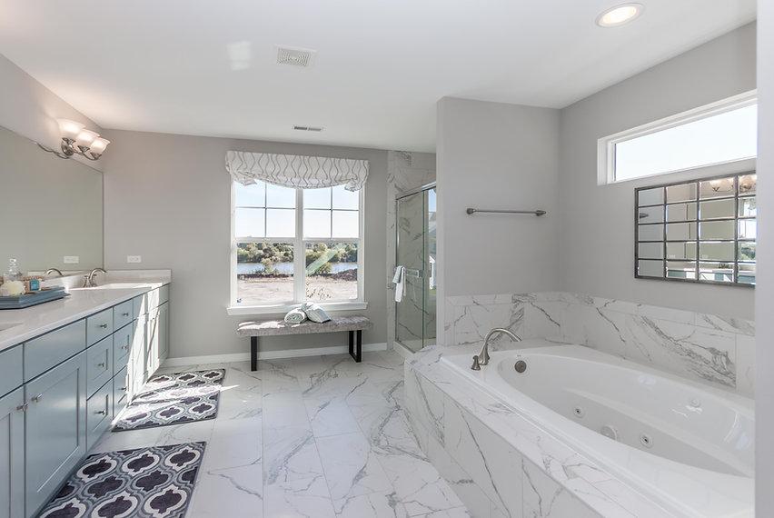 bloomingdale new home bathroom with marble flooring