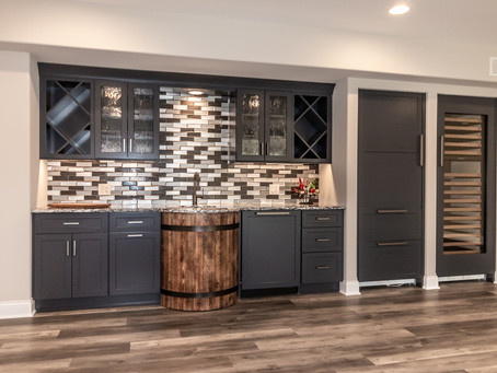 Basement Remodel with Custom Kitchenette