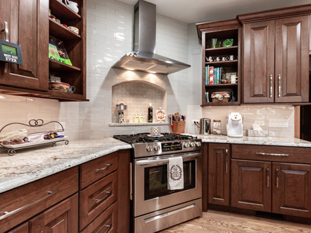 Outdated kitchen & Master Bath Get a Warm Makeover