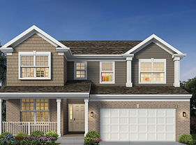 Two story home exterior with 2 car garage