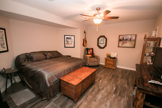 Add a spare bedroom when you finish your basement