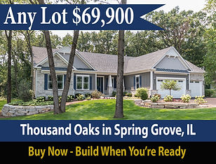 Speacial offer on custom built home at Thousand Oaks in Spring Grove Illinois