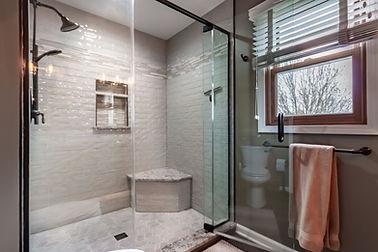 Shower door bathroom remodeling