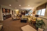 Basement recently remodeled into a inviting living space