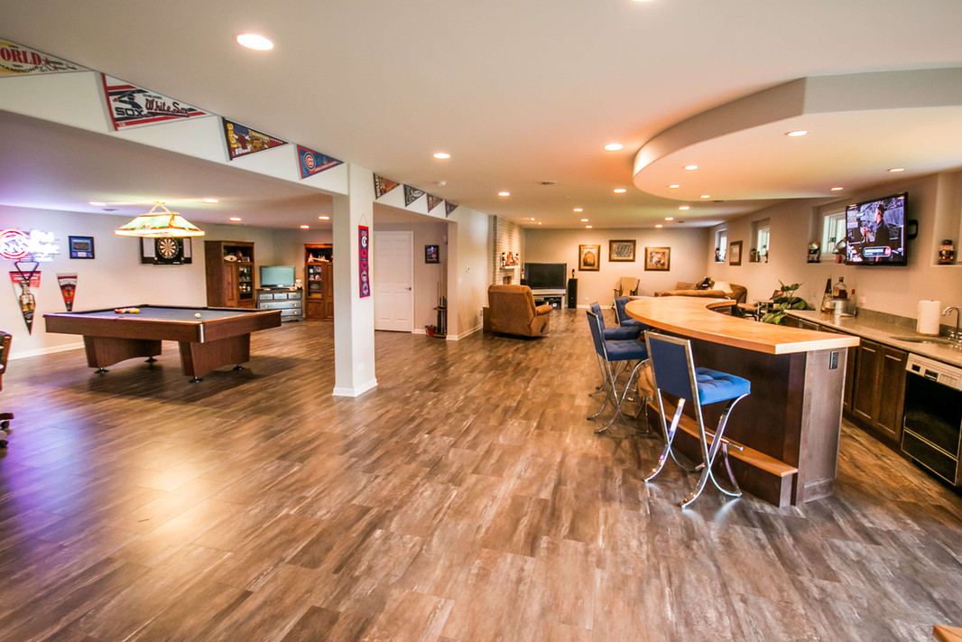 Finished basement game room ideas