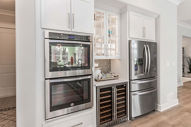 Appliances in a remodeled kitchen