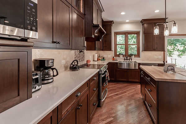Home kitchen remodeling with dark cabinets